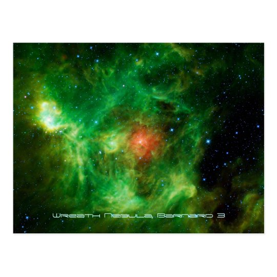 Wreath Nebula, Barnard 3, Milky Way Postcard