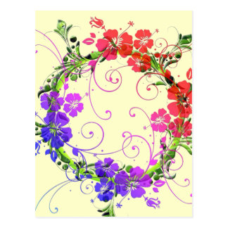 Wreath of Flowers Post Card
