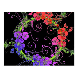 Wreath of Flowers Postcard