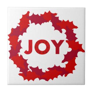 Wreath of Joy Ceramic Tile