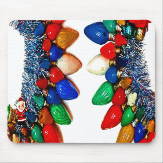 WREATH OF LIGHTS BY LIZ LOZ MOUSE PAD
