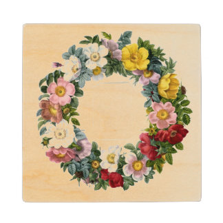 Wreath of Roses, Frontispiece for 'Les Roses' Wooden Coaster