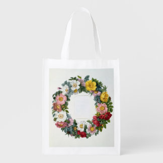 Wreath of Roses, Frontispiece for 'Les Roses' Market Tote