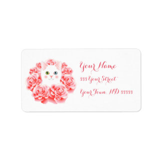 Wreath of Roses Kitty labels