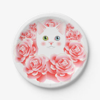 Wreath of Roses Kitty plates