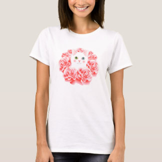 Wreath of Roses Kitty shirt
