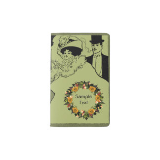 "Wreath ""Ole Orange"" Flowers Floral Pocket Notebook"