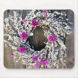 Wreath on a Fence Mousepad