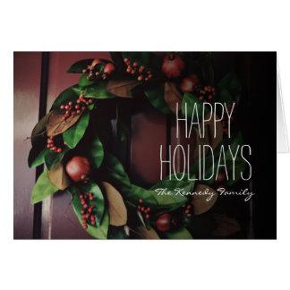 Wreath on door card