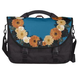 "Wreath ""Orange Blossom"" Orange Flowers Laptop Bag"