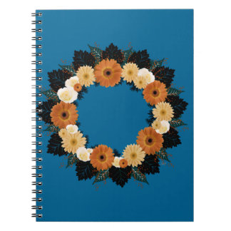 "Wreath ""Orange Blossom"" Orange Flowers Notebook"