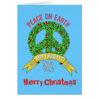 Peace Sign Christmas Cards - Invitations, Greeting & Photo Cards ...