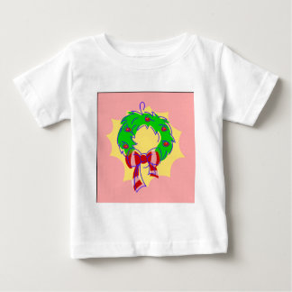 Wreath pink background baby T-Shirt