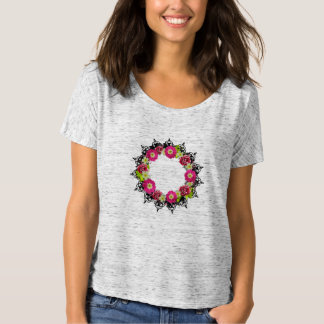 "Wreath ""Pink Grape' Flowers Floral T-Shirt"