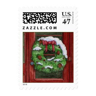 Wreath Postage Stamp