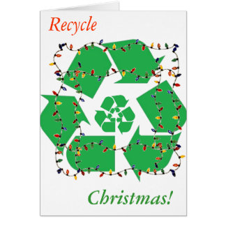 Wreath Recycle Christmas  Note Card