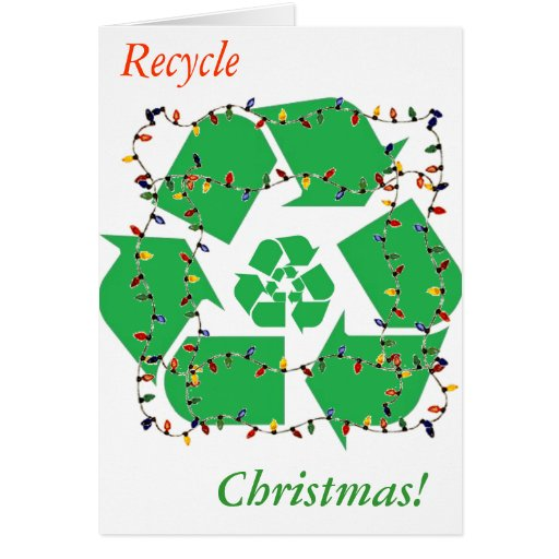 Wreath recycle christmas note card zazzle for How to recycle old christmas cards