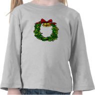 Wreath red bow & bells shirts