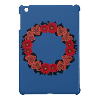 """Wreath """"Red Heart"""" Red Flowers iPad Mini Cases"""