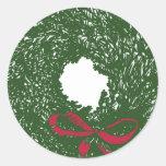 Wreath Round Stickers