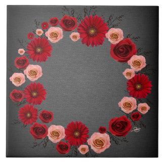 "Wreath ""Simple Circle"" Pink/Red Flowers Trivet"
