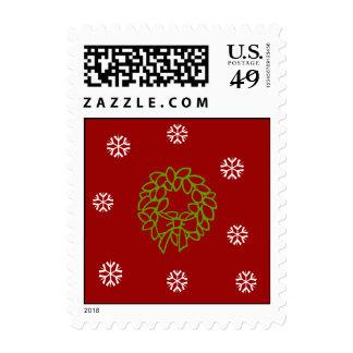 Wreath & Snowflakes Stamp