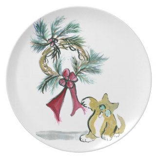 wreath tag by kitten dinner plate