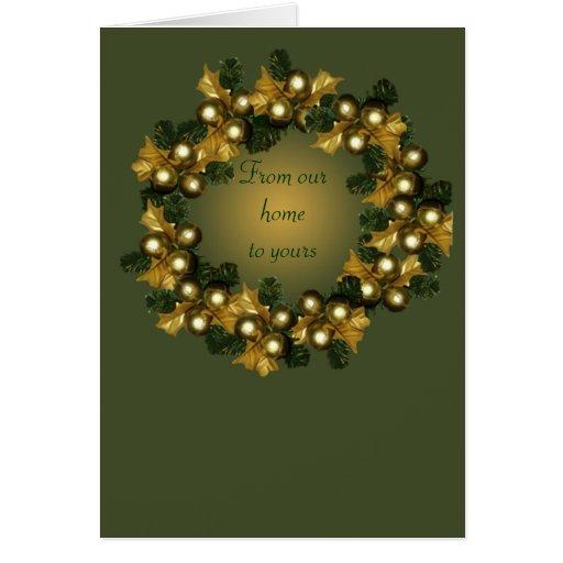 Wreath~two del ornamento tarjeta de felicitación
