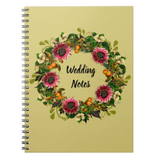 "Wreath ""Victoria Wedding"" Flowers Floral Notebook"