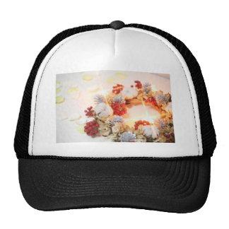 Wreath white light trucker hat