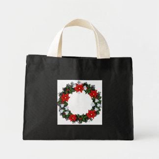 """Wreath """"Winter Roses"""" Flowers Floral Tote Bag"""