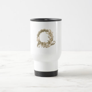Wreath with Butterflies and Flowers Travel Mug