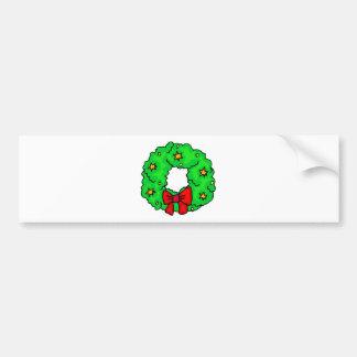 Wreath With Stars Bumper Sticker