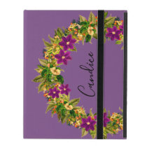 "Wreath ""Wow Purple"" Flowers Floral iPad Case"