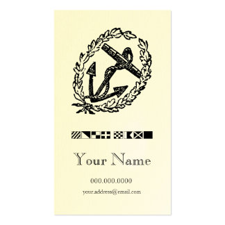Wreathed Anchor Code Flag Personal Calling Card Business Card