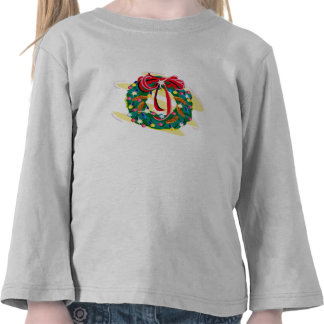 Wreather adornó con los pinecones y el arco camiseta