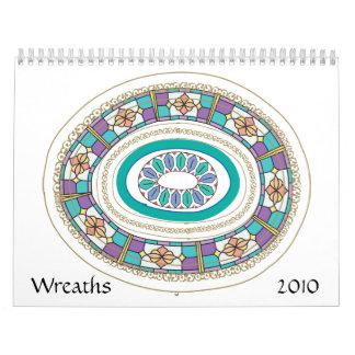 Wreaths 2010 wall calendars