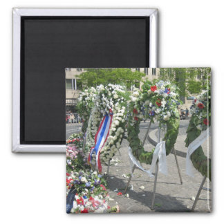 Wreaths 2 Inch Square Magnet