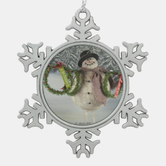 Wreaths For Sale Snowflake Pewter Christmas Ornament
