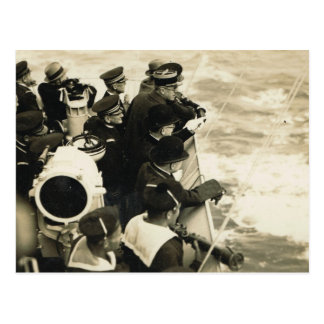 Wreaths thrown on the sea Remembrance Day Postcard