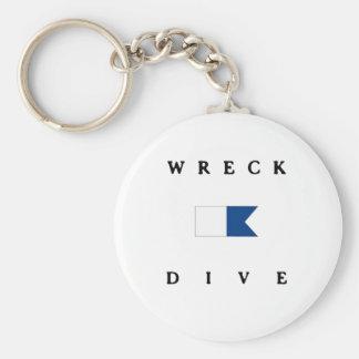 Wreck Alpha Dive Flag Key Chains
