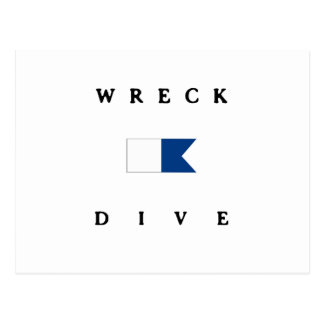 Wreck Alpha Dive Flag Postcard