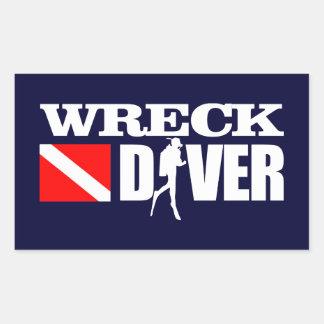 Wreck Diver 2 Rectangular Sticker