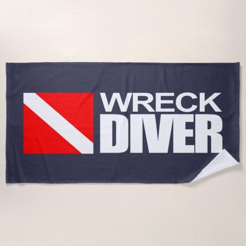 Wreck Diver Beach Towel