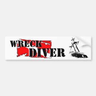 Wreck Diver Bumper Sticker