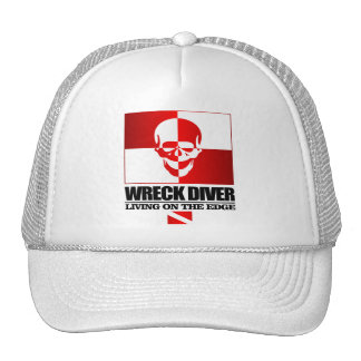 Wreck Diver -Living On The Edge Trucker Hat