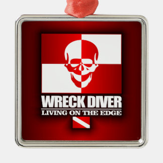 Wreck Diver -Living On The Edge Metal Ornament