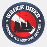 Wreck Diver (Ship)(r) Classic Round Sticker