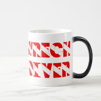 Wreck Diver Text Style Magic Mug