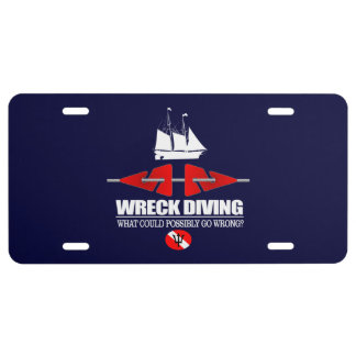 """""""Wreck Diving"""" License Plate"""